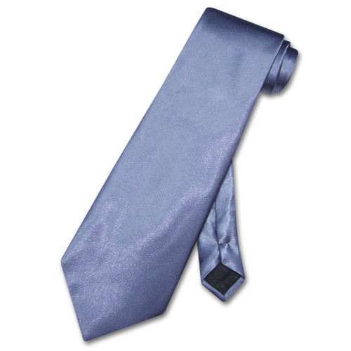 French Blue Necktie   Mens Solid French Blue Color Necktie