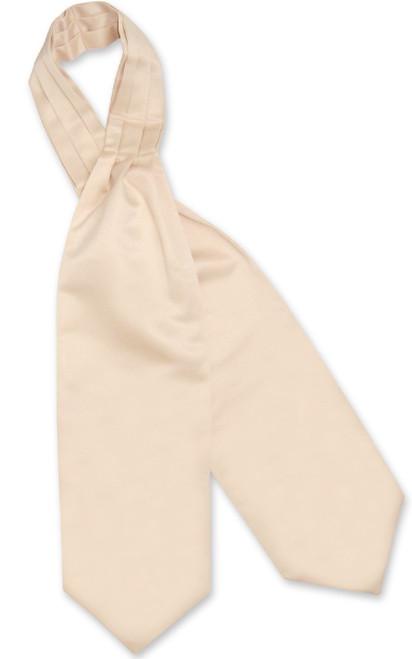 Light Brown Cravat Tie | Vesuvio Napoli Mens Solid Color Ascot Cravat