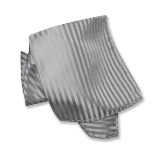 Mens Dress Vest NeckTie Silver Grey Vertical Striped Gray Neck Tie Set