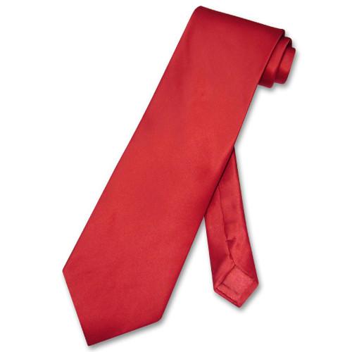 Biagio 100% Silk NeckTie Solid Rose Red Color Mens Neck Tie
