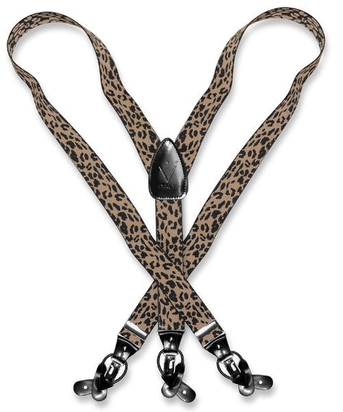 Leopard Print Suspenders | Mens Suspenders Y Shape