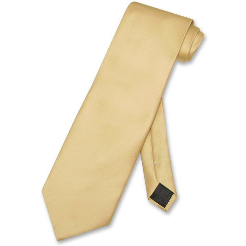 Gold Color Mens NeckTie | Vesuvio Napoli Solid Color Mens Neck Tie