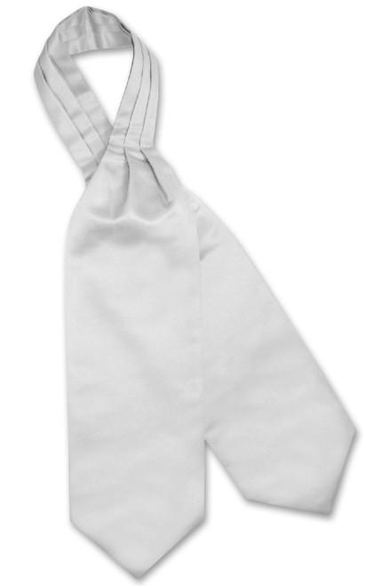 Silver Grey Cravat Tie | Vesuvio Napoli Mens Solid Color Ascot Tie
