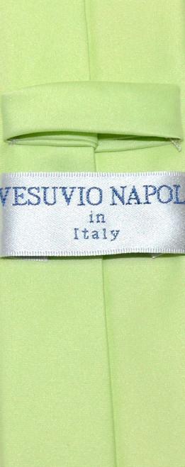 Vesuvio Napoli Narrow NeckTie Skinny Lime Green Color Mens Neck Tie