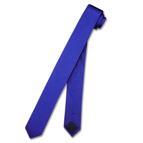 Royal Blue Extra Skinny Neck Tie   Mens Extra Skinny Silk NeckTies