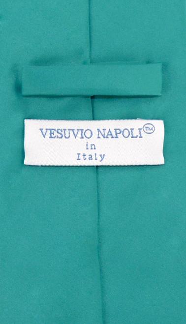 Teal Color Mens NeckTie   Vesuvio Napoli Solid Color Mens Neck Tie