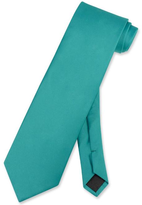 Teal Color Mens NeckTie | Vesuvio Napoli Solid Color Mens Neck Tie