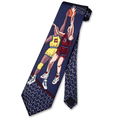 Papillon 100% Silk NeckTie Basketball Design Mens Neck Tie #101-4