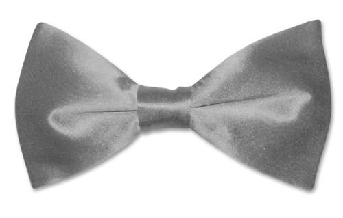 Charcoal Gray Mens Bowtie | Biagio Silk Pre Tied Solid Color Bow Tie