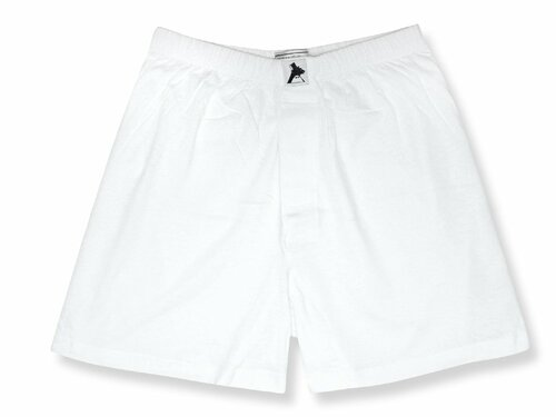 100% Knit Cotton Boxer Shorts | Biagio Mens Solid White Boxers