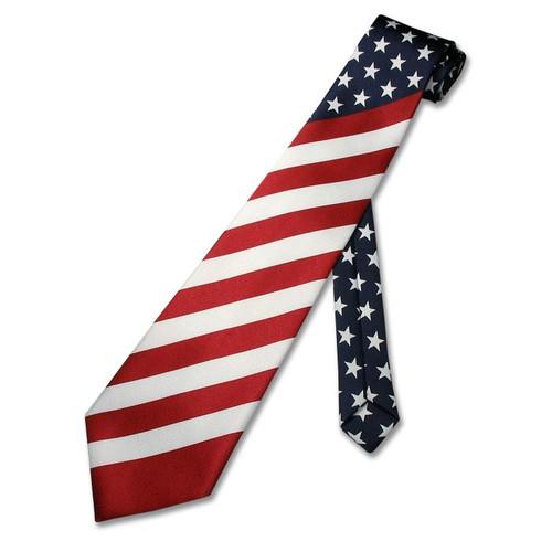 5f22f89a5fb4 American Flag Men's Neck Tie USA Patriotic NeckTie NEW