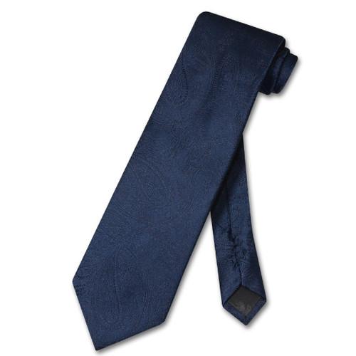 Vesuvio Napoli NeckTie Navy Blue Color Paisley Design Mens Neck Tie