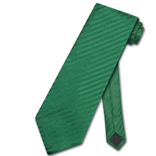 Vesuvio Napoli NeckTie Emerald Green Vertical Stripe Mens Neck Tie