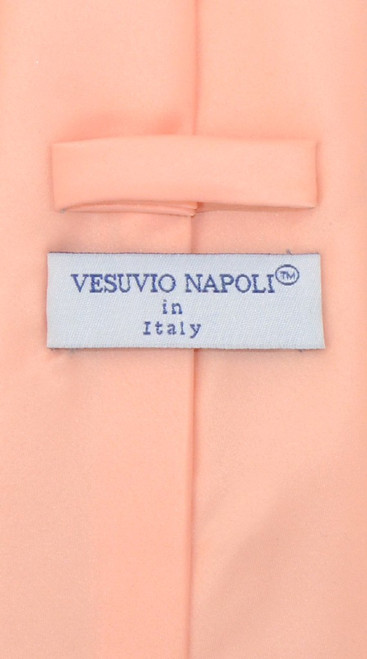 Peach Color Mens NeckTie | Vesuvio Napoli Solid Color Neck Tie