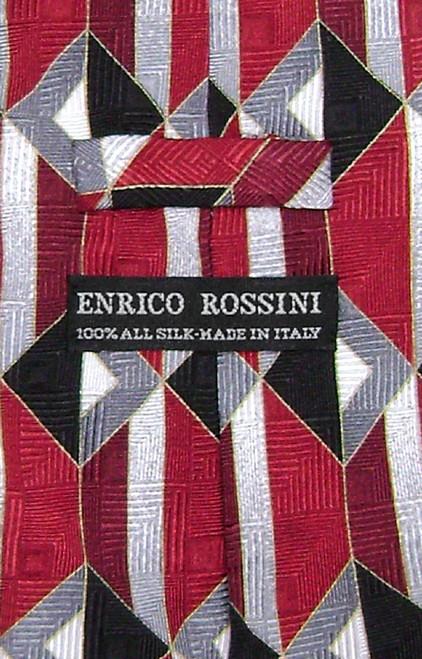 Enrico Rossini Silk NeckTie Made in Italy Design Mens Neck Tie #3329-1