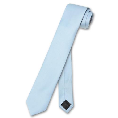 Vesuvio Napoli Narrow NeckTie Skinny Baby Blue Color Mens Neck Tie