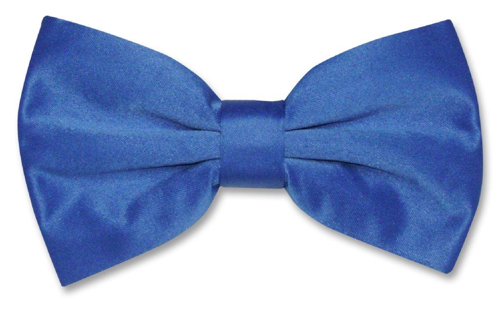 a88377004726 Vesuvio Napoli BowTie Solid Royal Blue Color Mens Bow Tie