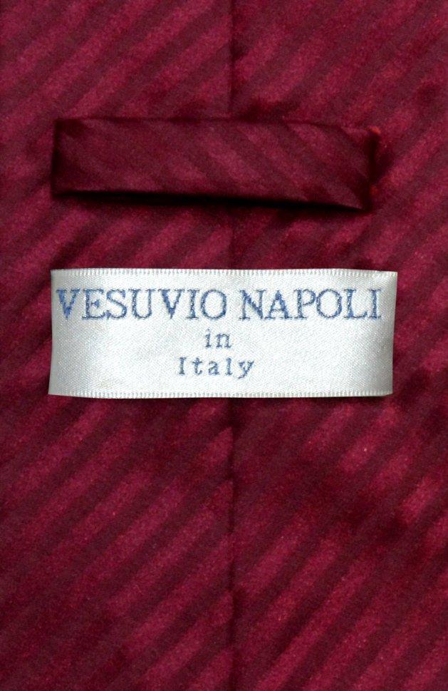 Vesuvio Napoli NeckTie Burgundy Stripe Vertical Stripe Mens Neck Tie