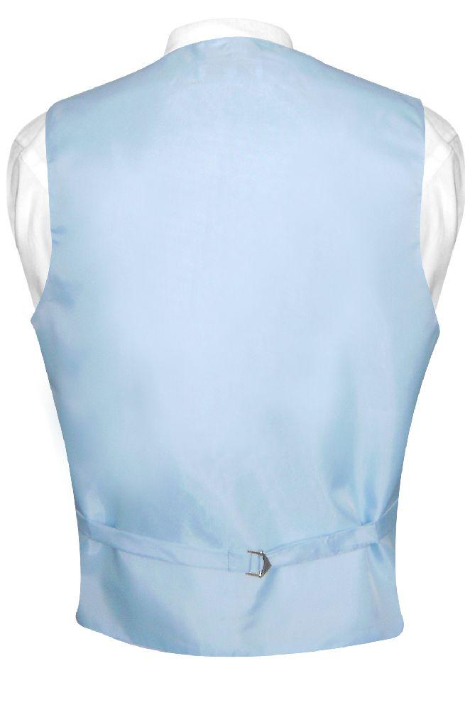 Mens Dress Vest & NeckTie Solid Baby Blue Color Neck Tie Set