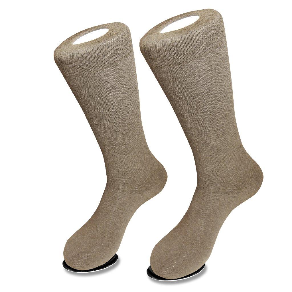 Taupe Light Brown Mens Dress Socks | 1 Pair Of Biagio Cotton Socks