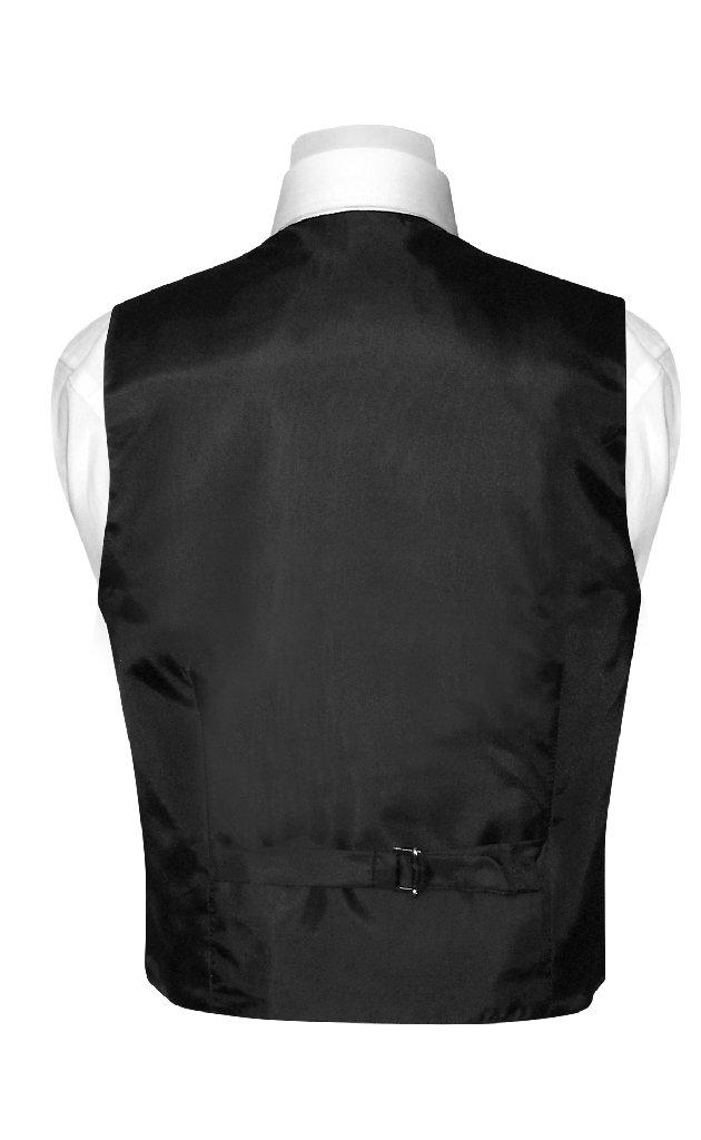 Boys Dress Vest NeckTie Solid Black Color Neck Tie Set