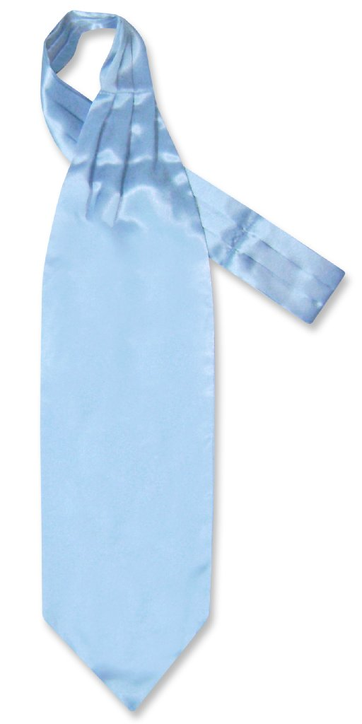 Baby Blue Cravat Tie | Biagio Ascot Solid Color Mens NeckTie
