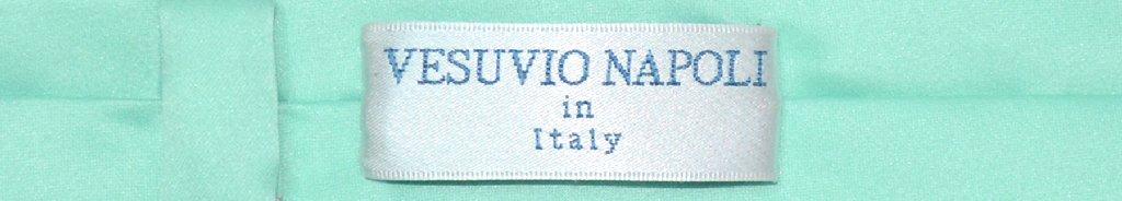 Vesuvio Napoli Narrow NeckTie Extra Skinny Aqua Green Mens Neck Tie