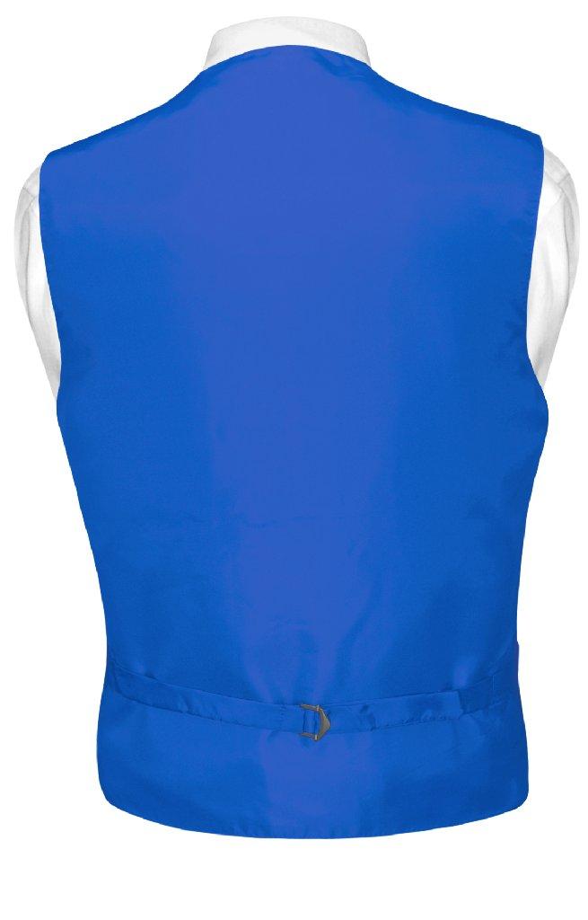 Mens Dress Vest BowTie Royal Blue Woven Bow Tie Horizontal Stripe Set