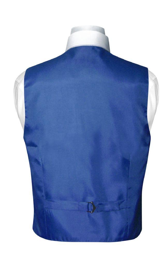Boys Dress Vest Bow Tie Solid Royal Blue Color BowTie Set