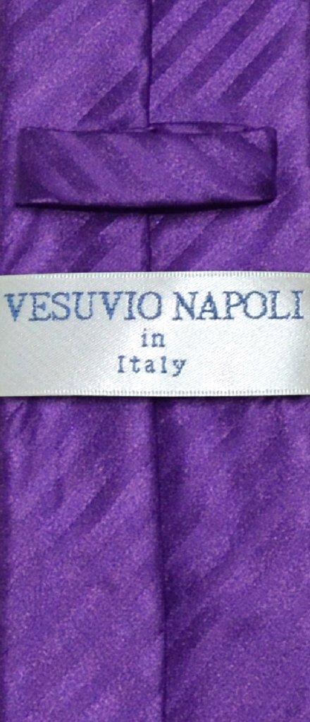 Vesuvio Napoli NeckTie Purple Vertical Stripes Skinny Mens Neck Tie