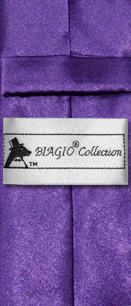 Biagio Boys NeckTie Solid Purple Indigo Color Youth Neck Tie