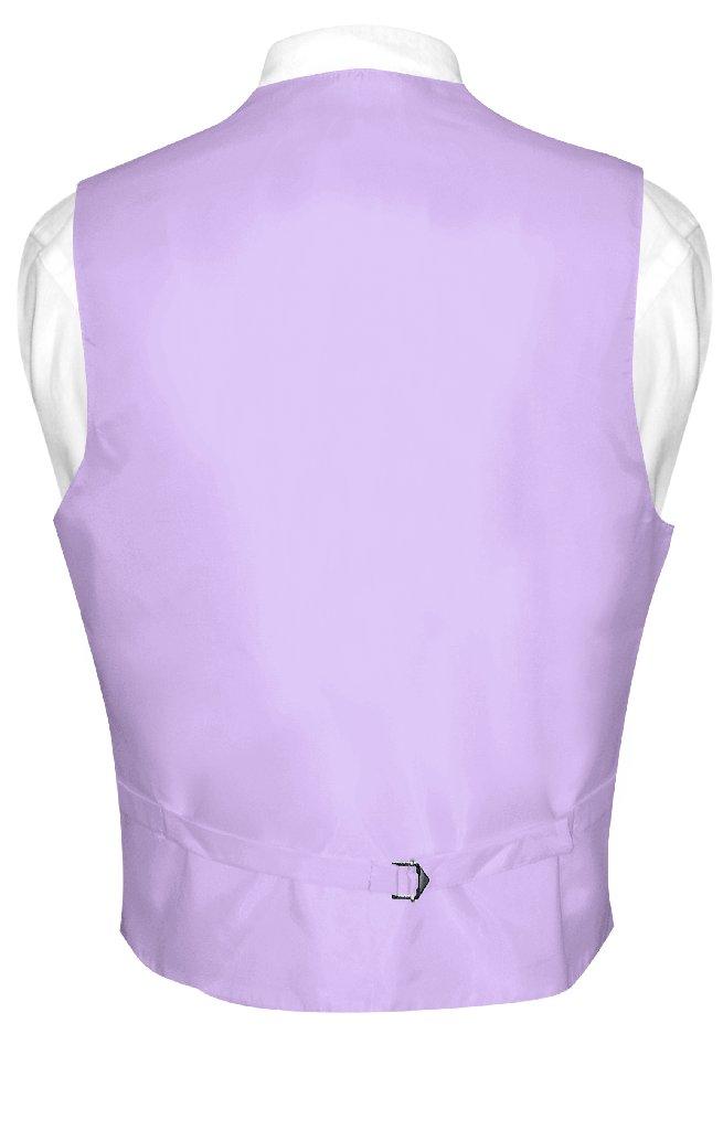 Mens Paisley Design Dress Vest & NeckTie Lavender Purple Neck Tie Set