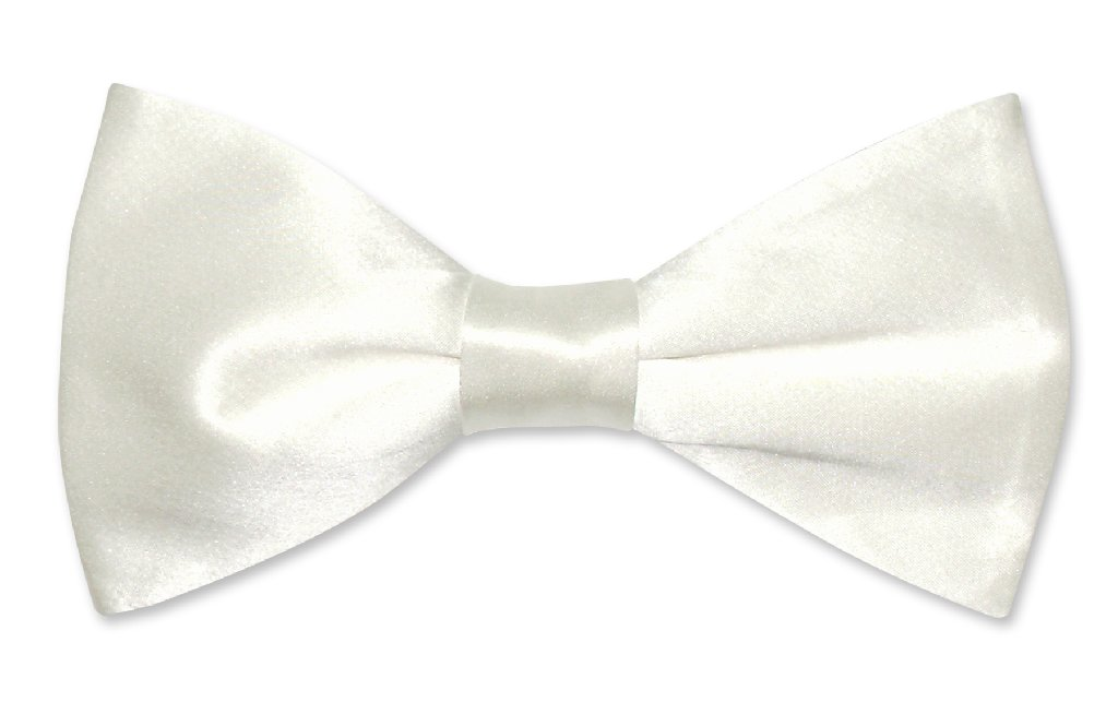 Solid Off-White Color Mens Bowtie | Biagio Silk Pre Tied Mens Bow Tie