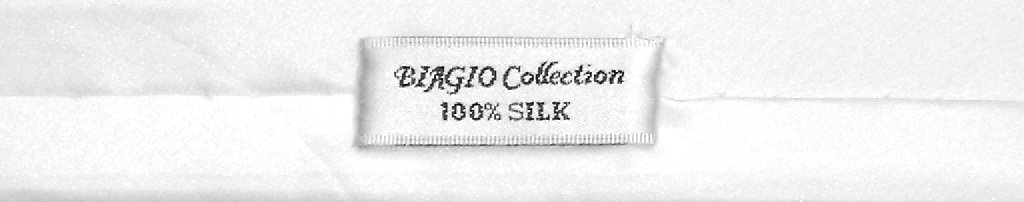 Biagio 100% Silk Narrow NeckTie Extra Skinny White Color Mens Neck Tie