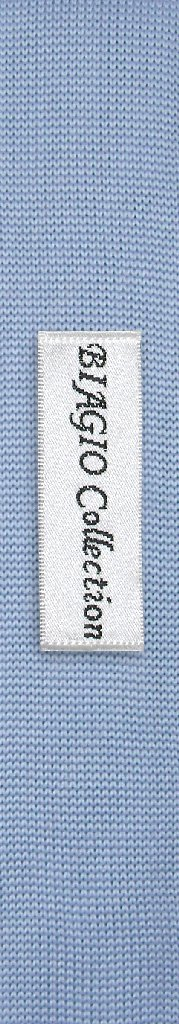 Baby Blue Knit Neck Tie | Biagio Solid Color Knitted Mens NeckTie