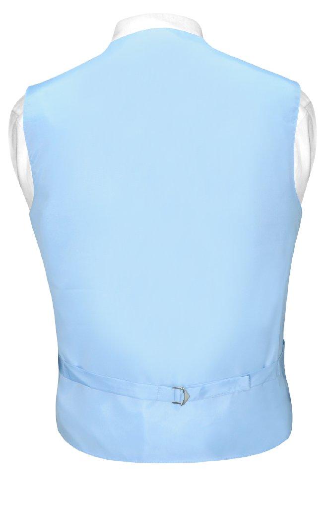 Mens Dress Vest BowTie Baby Blue Woven Bow Tie Horizontal Stripe Set