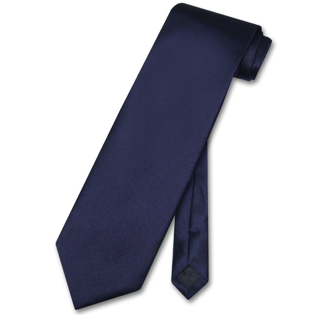 Vesuvio Napoli NeckTie Solid NAVY BLUE Color Men's Neck Tie