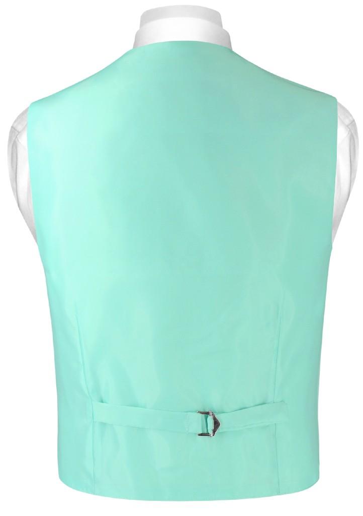 Boys Dress Vest Bow Tie Solid Aqua Green Color BowTie Set