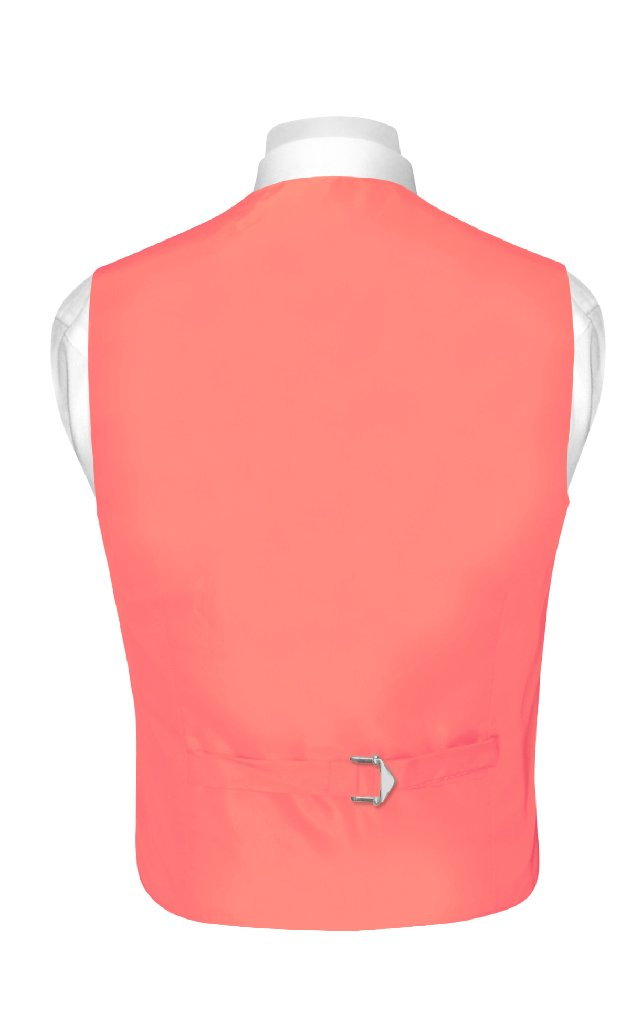 Boys Coral Pink Tie | Boys Coral Pink Dress Vest And Neck Tie Set
