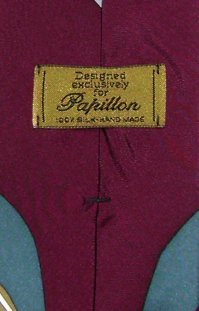 Papillon 100% Silk NeckTie Football Design Mens Neck Tie #124-2