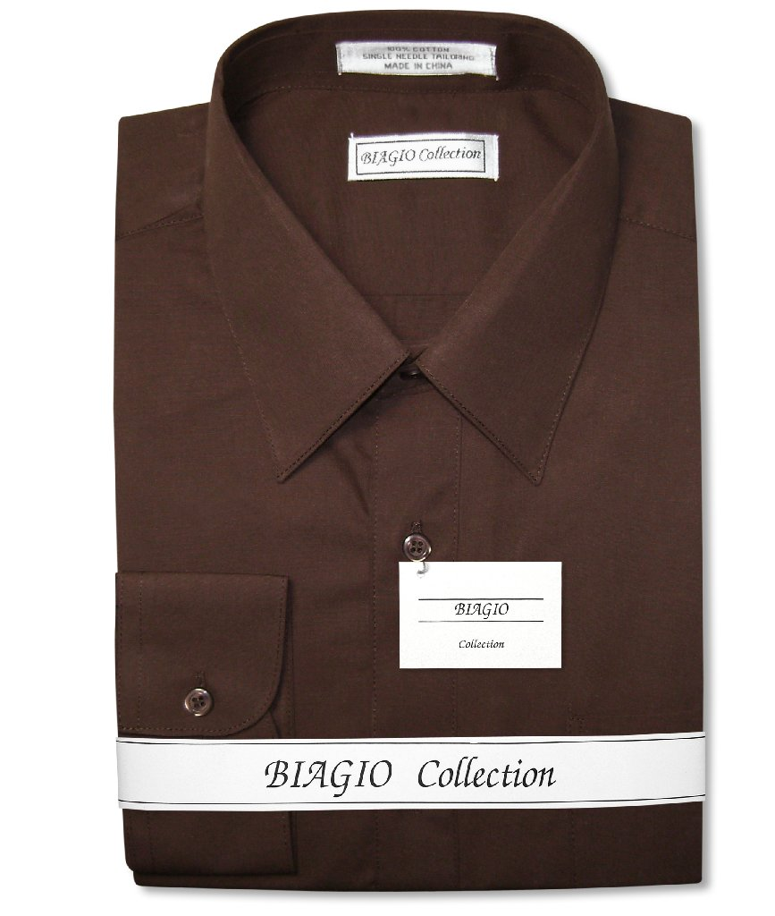 Chocolate Brown Dress Shirt | Biagio Mens Dress Shirt