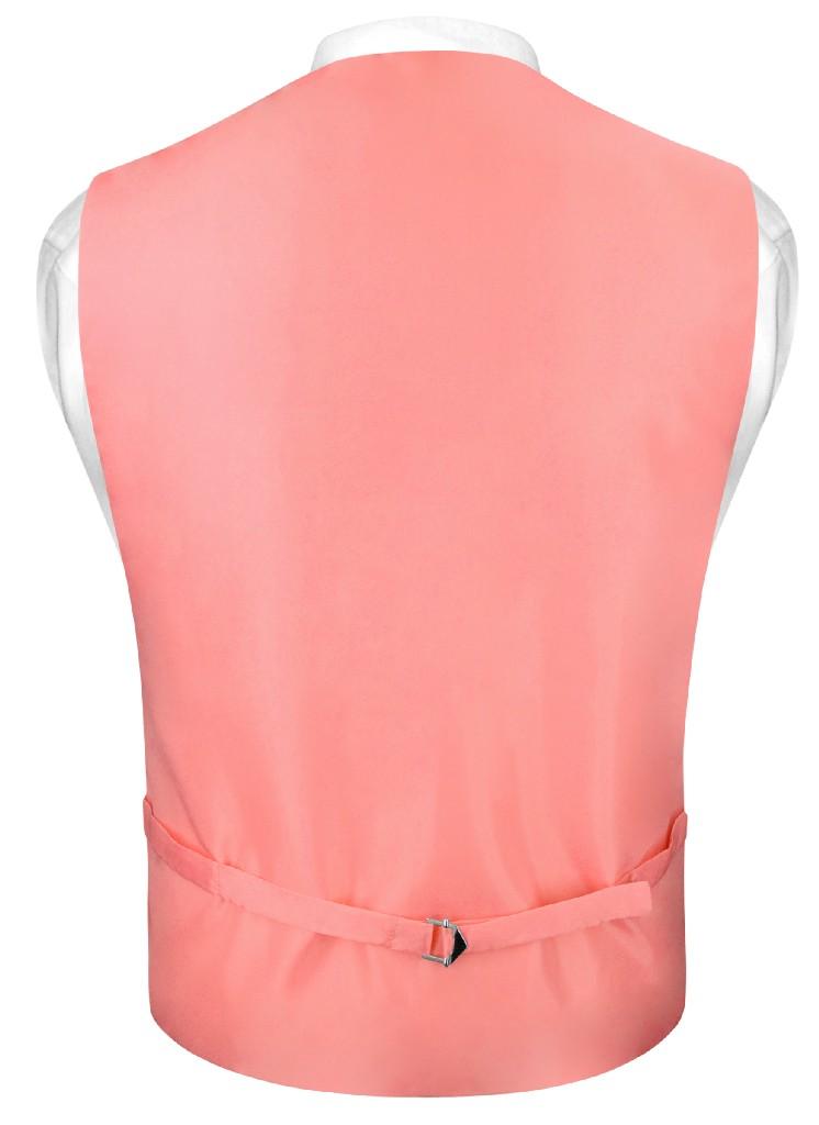 Coral Vest And Tie | Solid Coral Pink Slim Fit Vest And NeckTie Set