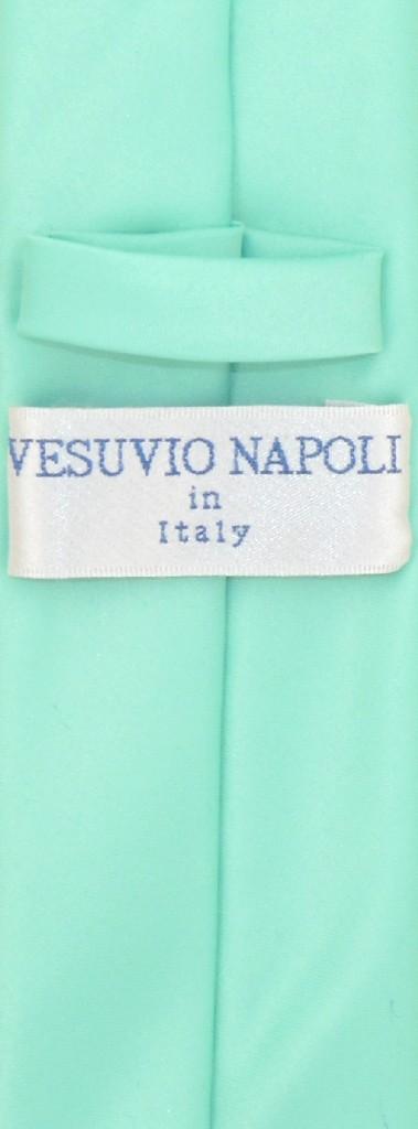 Vesuvio Napoli Aqua Green Skinny NeckTie Handkerchief Mens Tie Set