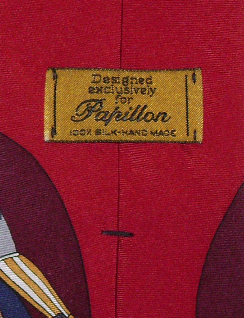 Papillon 100% Silk NeckTie Football Design Mens Neck Tie #124-1