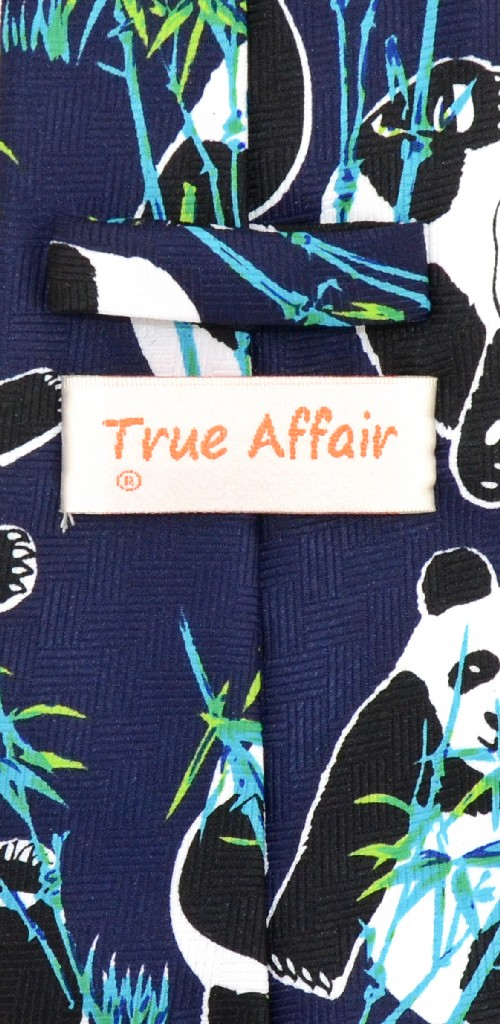 Panda Bears Mens NeckTie | Panda Bear Eating Bamboo Neck Tie