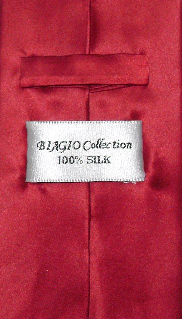 Extra Long Dark Red Tie | Solid 100% Silk Dark Red Color XL NeckTie