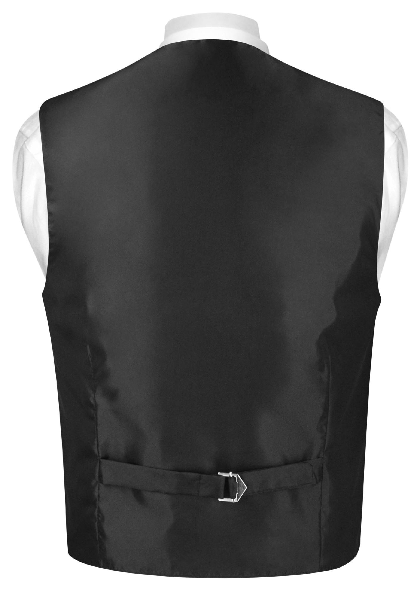 Boys Dress Vest and Neck Tie Solid Chocolate Brown NeckTie Set