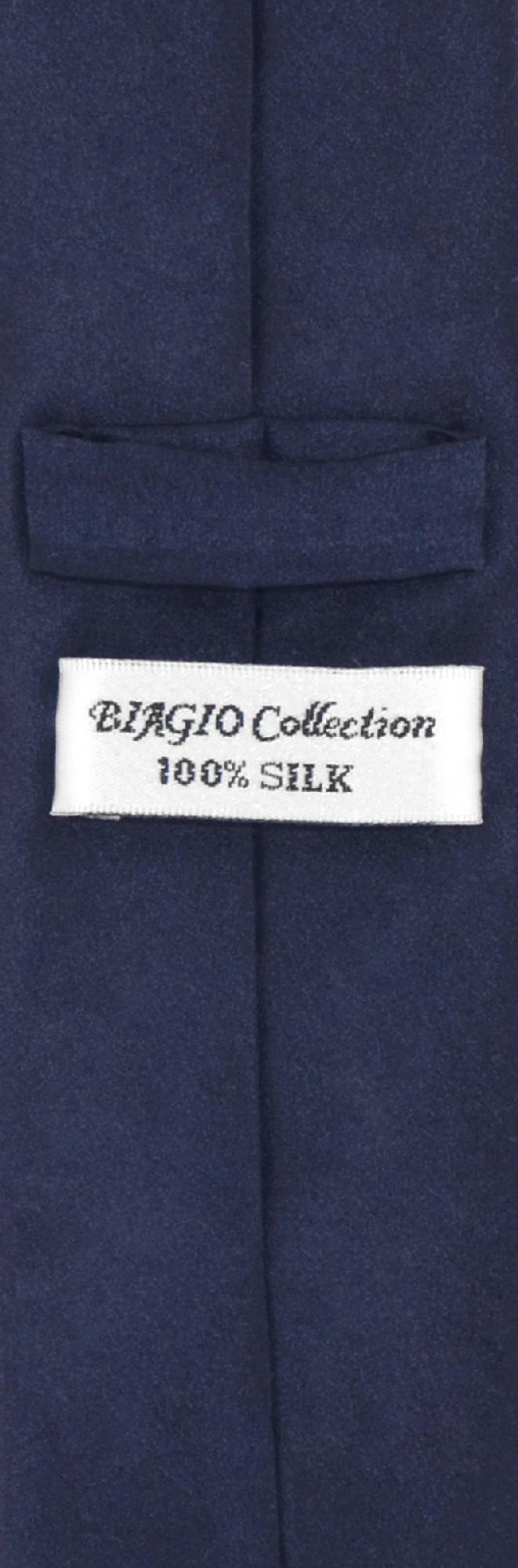 Navy Blue Skinny Tie And Handkerchief Set | Silk Necktie Hanky Set