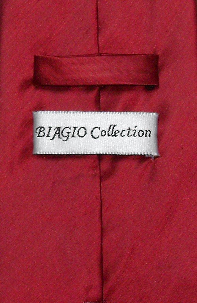 Dark Red Dress Vest   Biagio Mens Bamboo Silk Dress Vest & NeckTie
