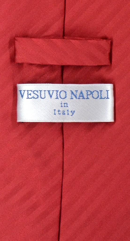 Vesuvio Napoli Red Striped NeckTie & Handkerchief Mens Neck Tie Set